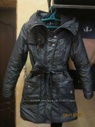 Пальто зимнее серое, графит размер с, хс