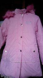 Курточка розовая для девочки рост 128-134
