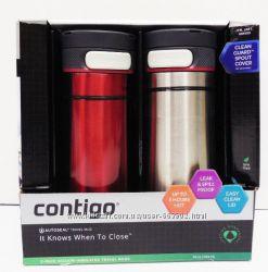 Набор термокружек Contigo Midtown Autoseal Stainless Red & Silver 470 ml