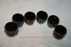 Оригинальные стаканы для вина керамика-стекло.