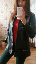 Кожаный плащ пиджак livetree