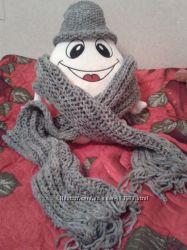зимние шарф и шапка