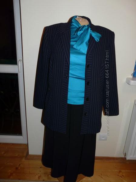 Синий костюм женский классический доставка