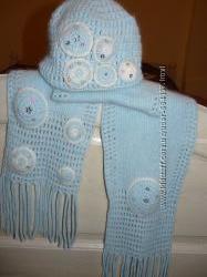 шапка  шарф зимняя ангорка