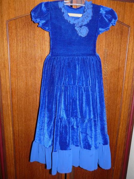 платье  бархат, нарядное 4-7 лет