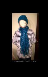 шапка  шарф акрил из Италии