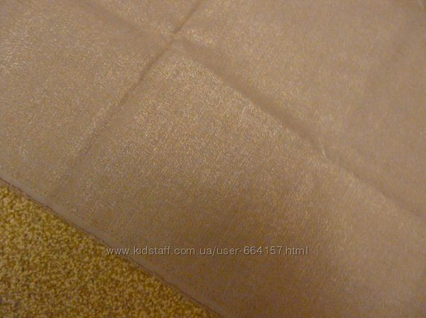 отрез ткани лен беж  золотистый