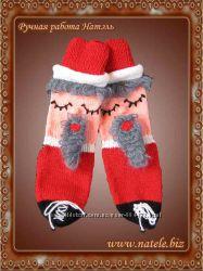 Носки новогодние красные Socks-Christmas-red-001