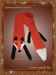 Шарф рыжая лисичка Scarf-Fox-red-001