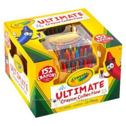 Crayola восковые карандаши 152 шт в пластиковом органайзере с точилкой