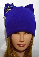 Молодежная шапочка с ушками писк моды