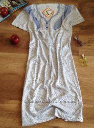 Турецкая хлопковая ночная рубашка SANTINA. Большой размер. Лучшее качество.