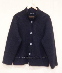 Classiс  Knitting жакет merino wool шерсть L оверсайз  юбка lambs wool