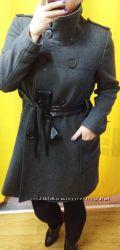 Zara пальто шерсть L-XL