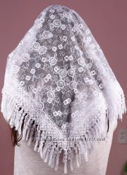 Свадебные платки фатиновые разные узоры