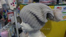 шапки зима шерсть обьем 52-58 barbras натуральный бубон