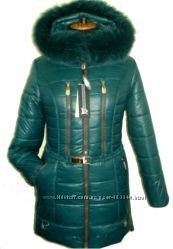 Зимний пуховик с мехом размеры-42, 44, 46, 48, 50, 52, 54, 56