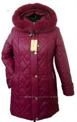 Стильная женская зимняя куртка больших размеров размеры 54-70