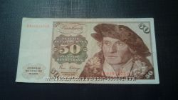 Банкнота 50 марок ФРГ 1980 года