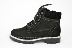Женские ботинки темно-серые зимние Почти Новые