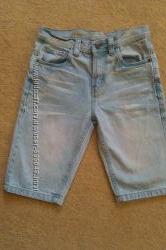 Джинсовые шорты для мальчика на рост 134, 140, 146 см.