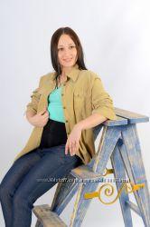 Теплые джинсы для беременных флис