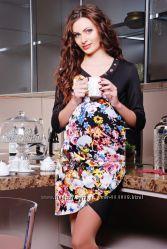 Платье для беременных с легкой драпировкой