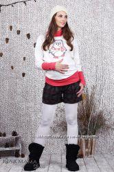 Шорты для беременных из теплой костюмной ткани Simple