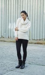 Модный свитер для беременных молочный