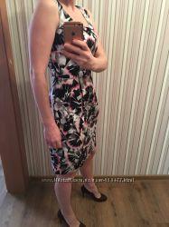 Яркое летнее платье-футляр фирмы Oodji 38 размера S-M
