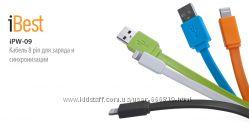 ibest iPW-09 Кабель 8 pin для заряда и синхронизации iPhone iPad iPod