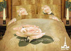 Комплект постельного белья сатин 3D Love You 160х220 в ассортименте
