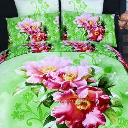 Комплект постельного белья сатин 3D Love You 200х220 в ассортименте