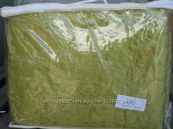 Покрывало с наволочками 50х70 натуральный хлопок 240х260 Зеленые камушки