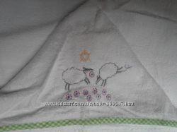 Полотенце детское махровое однотонное уголок для купания Ушки