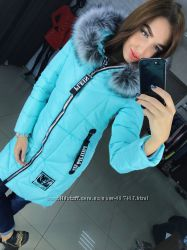 Теплая зимняя куртка, утепленная холлофайбером, отличное качество.