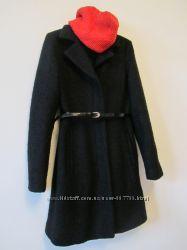 Пальто шерсть  черное.