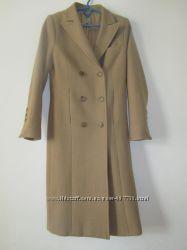Стиловое пальто, бежевое. Шерсть.