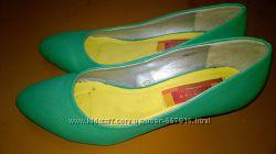 Туфли зеленые 38 размер