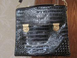 Новая сумка портфельТемно синяя.