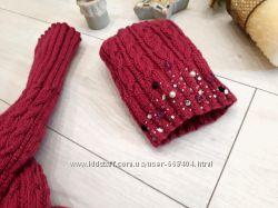 комплект шапка гетры