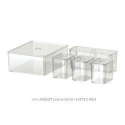 Контейнеры для хранения с крышками в наличии GODMORGON Ikea