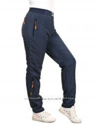 Теплые брюки на флисе, плащевка