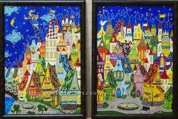 Витражная роспись по стеклу на заказ