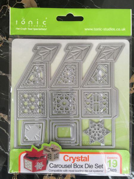 Набор ножей для вырубки Tonic Studio 1020E Crystal Carousel Box Die Set