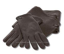 Выязанные  флисовые перчатки  р. 9, 5 от ТСМ Tchibo Германия