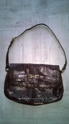 Винтажная сумочка, кожа питона