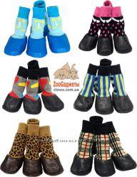 Налапники - носки для собак с прорезиненной подошвой