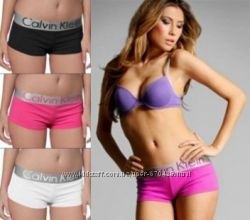 Трусы женские шортики боксеры Calvin Klein Steel shorts modal модал