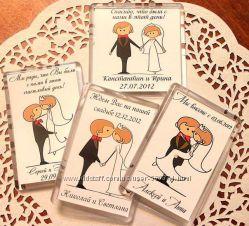Креативные магниты на свадьбу